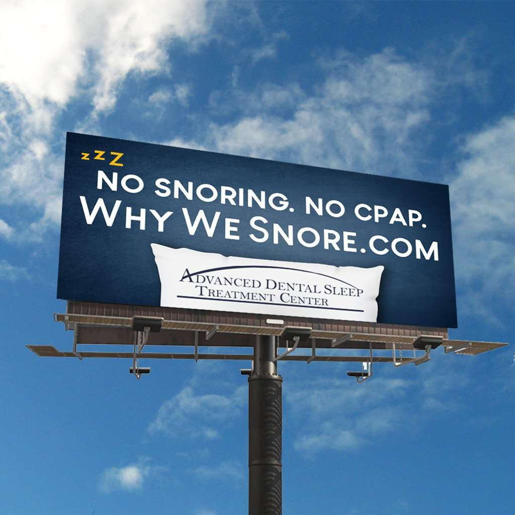 advanced dental sleep treatment center sleep apnea billboard