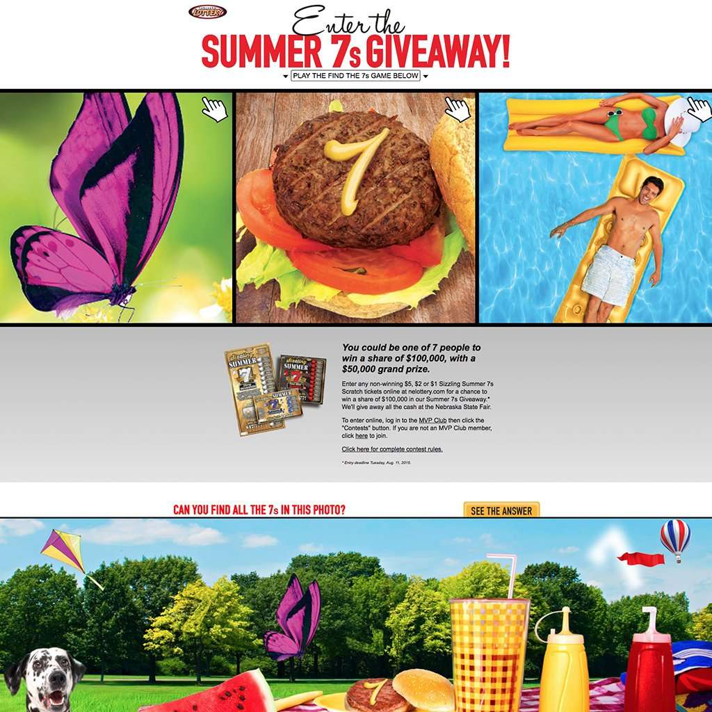 summer of 7s landing page