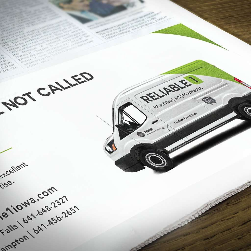 reliable1 branding print ad