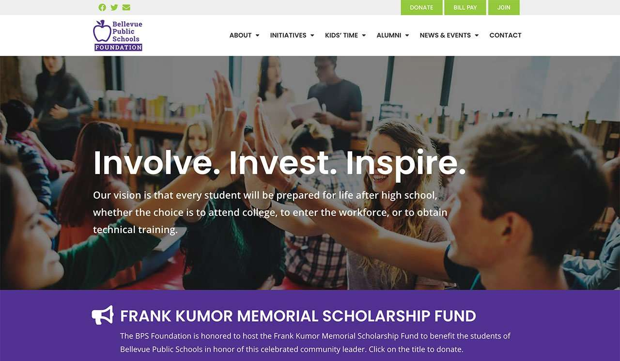 bellevue public schools foundation website home page