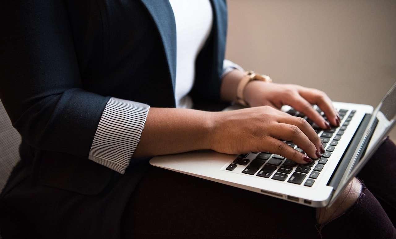 businesswoman using a keyboard