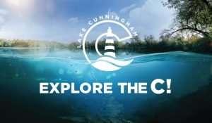 lake cunningham logo and explore the c tagline on image of lake